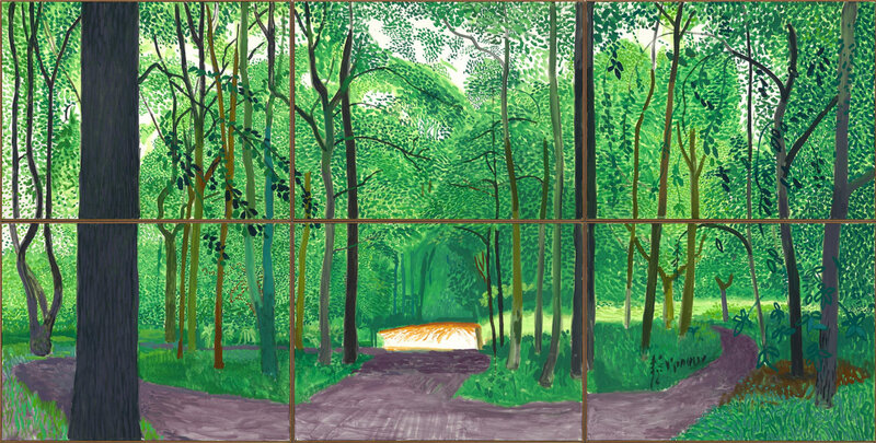 David Hockney, 'Woldgate Woods, 6 & 9 November 2006', collection of the artist