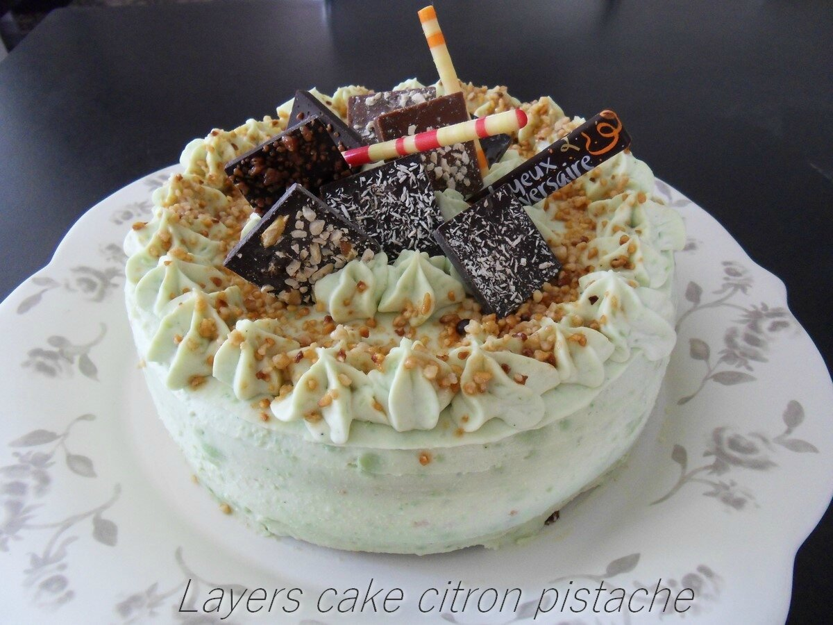 LAYERS CAKE CITRON PISTACHE