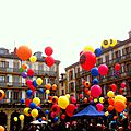 San Sebastian, place de la constitution et ballons (Espagne)