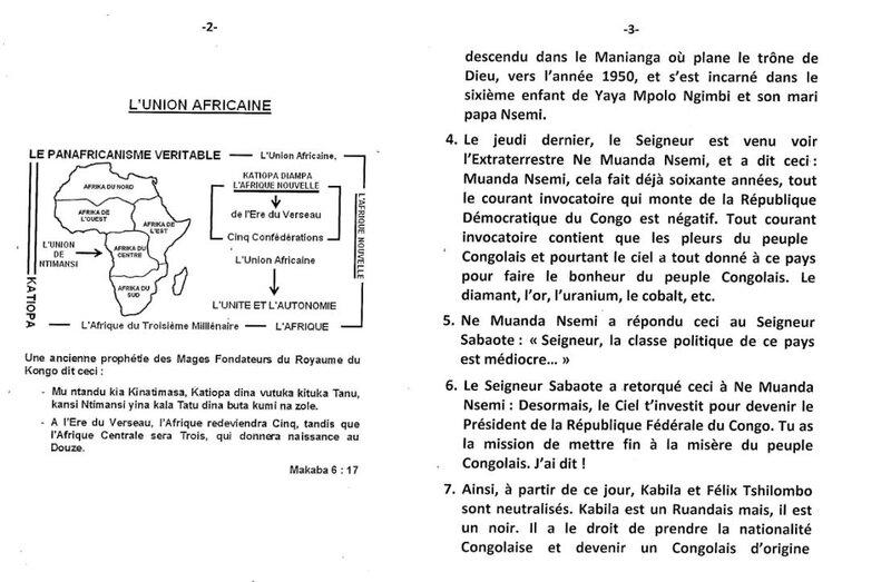 LE COUP D'ETAT DIVIN EN REPUBLIQUE DEMOCRATIQUE DU CONGO b