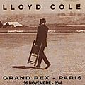 Lloyd cole - mardi 26 novembre 1991 - grand rex (paris)