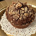 Muffins pommes de terre, chocolat et noisettes