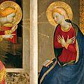 1433-1434 FRA ANGELICO : Annonciation - détail du retable pour la cathédrale de Cortone