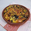 Clafoutis d'aubergine, chorizo et grana padano
