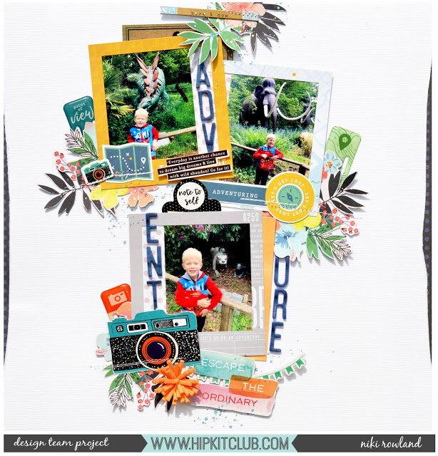 Adventure Niki Rowland Hip Kit Club June 2019 Pinkfresh Studio Out & About Scrapbooking Simple Stories Sunshine and Blue Skies Vicki Boutin Color Kaleidescope