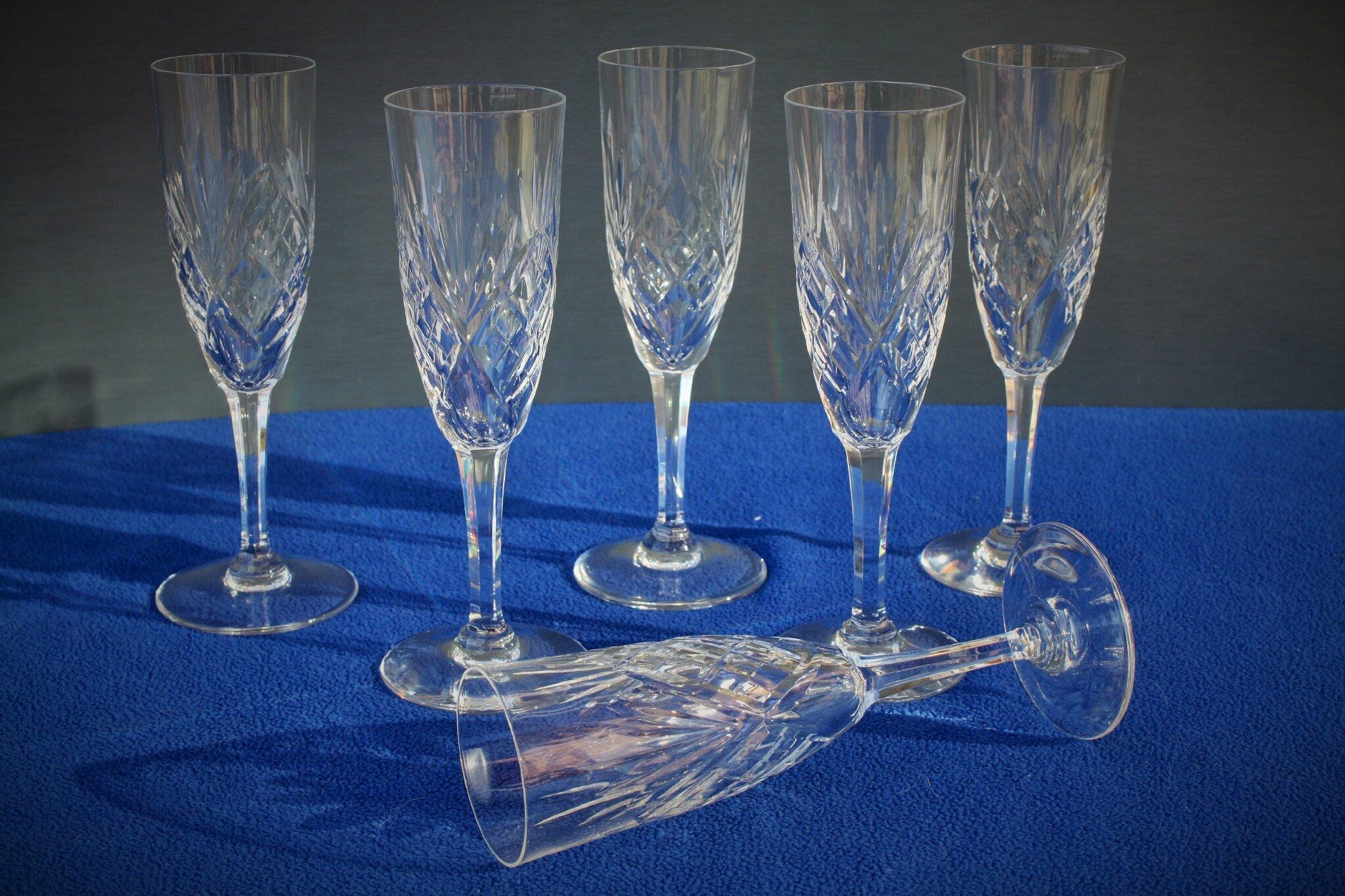 Flûtes à champagne St Louis Chantilly