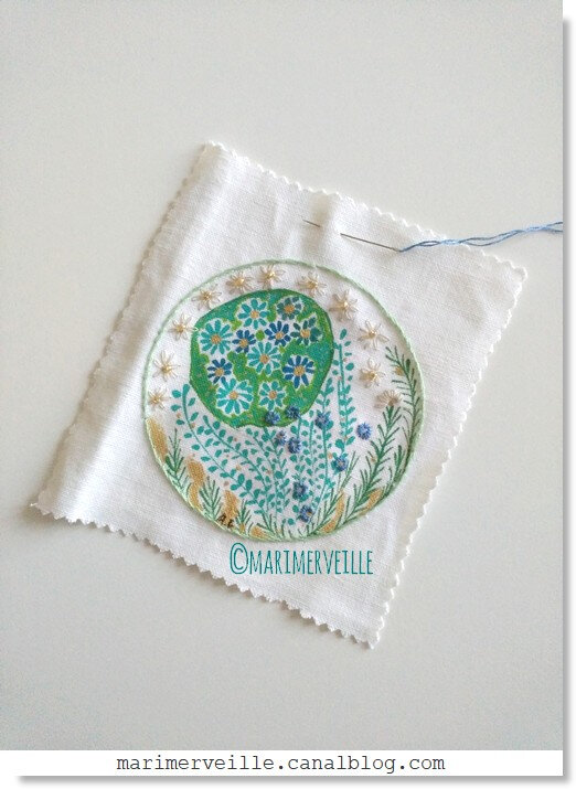 work in progress ©marimerveille - broderie herbes folles