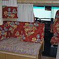Les coussins intérieurs du camping car, restauration :