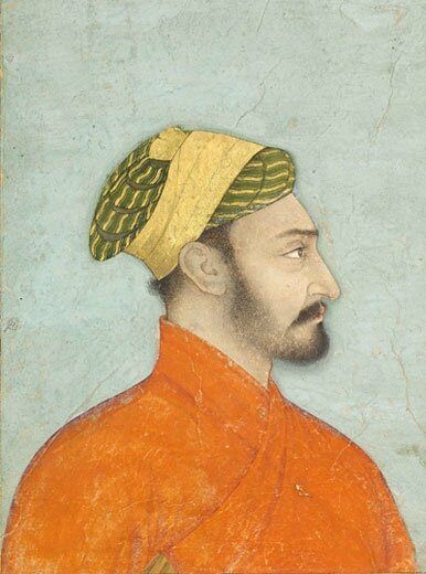 Profile Portrait of an Elegant Mughal Nobleman