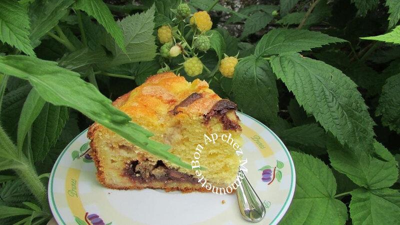 gâteau framboises jaunes du jardin et oeufs chocolat 017