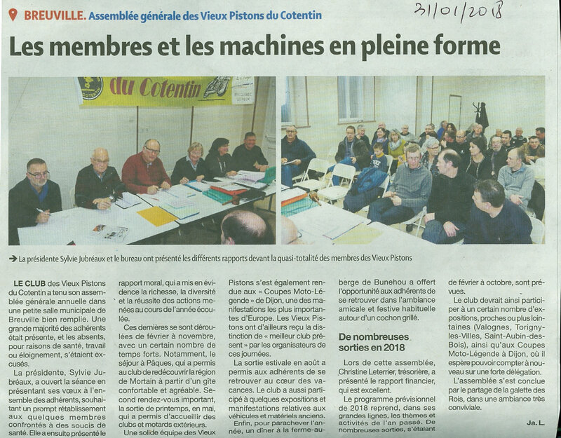 Article Presse AGO Janvier 2018