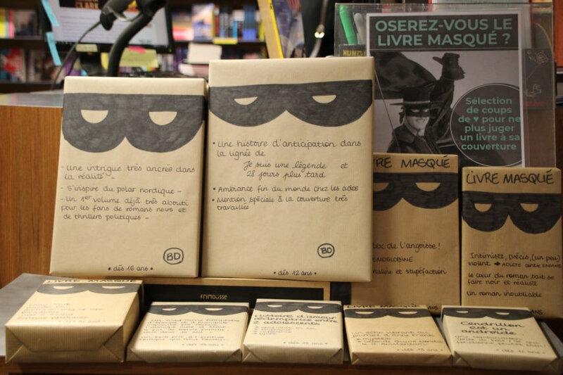 Achetez un livre masqué