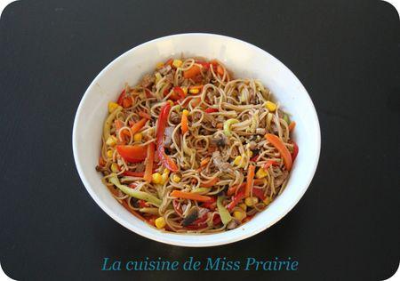 Nouilles chinoises aux légumes croquants
