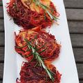 Röstis betteraves et pommes de terre