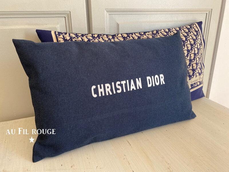 Coussins Christian Dior