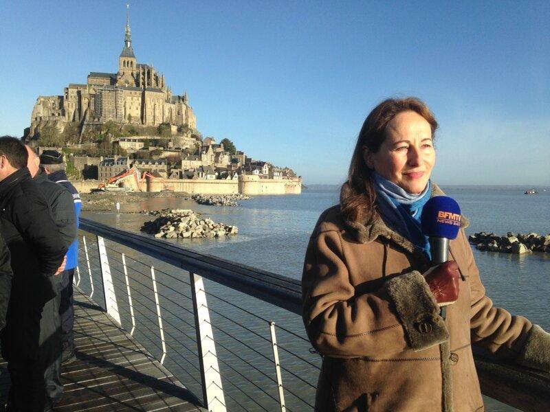 Ségolène Royal Mont-Saint-Michel février 2015 visite ITW BFM TV