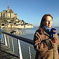 Grandes marées - visite royal au mont-saint-michel (50) - dimanche 22 février 2015