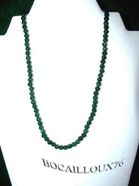COLLIER AVENTURINE VERTE 4 Perles D.5