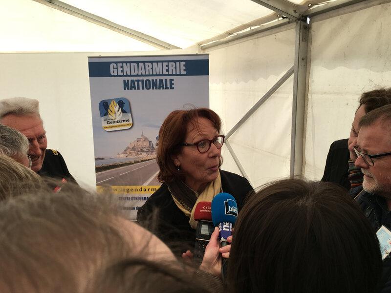 Arnaud Beltrame_hommage_Avranches_2019_Gendarmerie_Nicolle Beltrame_mère_interview_ITW