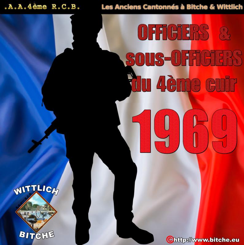 1969 les Officiers du 4ème Régiment de Cuirassiers A