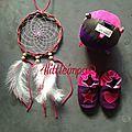 Attrape rêve et petits chaussons en cuir