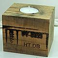 Bougeoir cube de palette 9x9x8cm : 5€