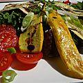 Salade de légumes grillés à l'huile de noix