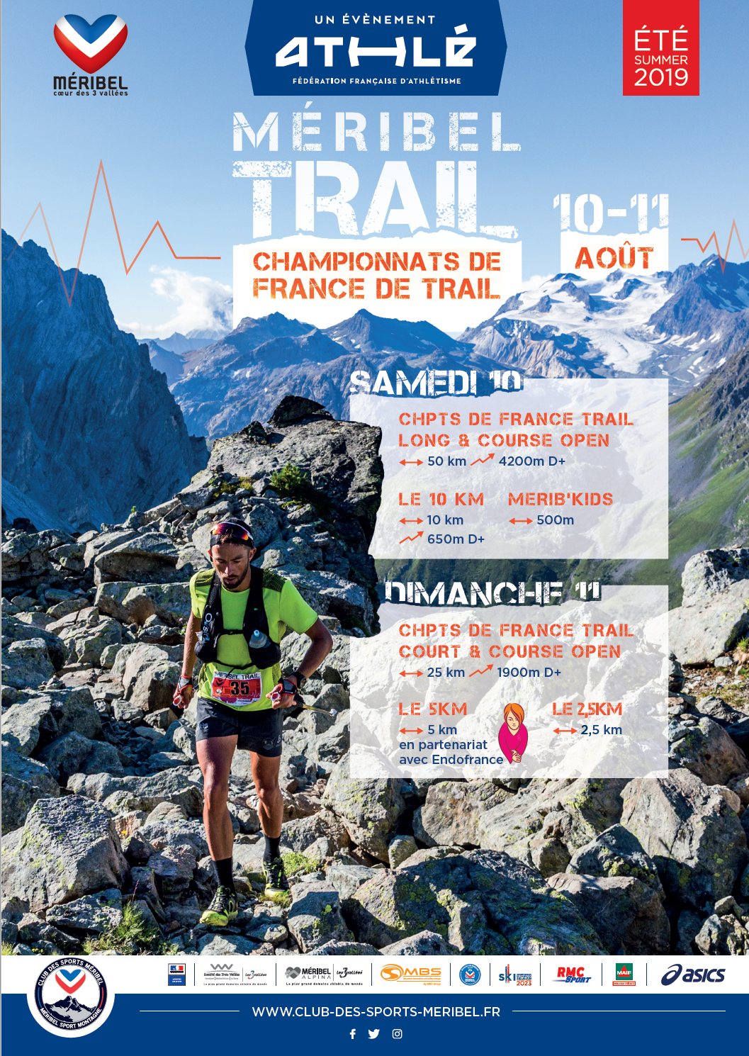 MERIBEL CHPTS DE FRANCE DE TRAIL 10 ET 11 AOUT 2019