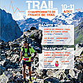 Meribel chpts de france de trail 10 et 11 aout 2019