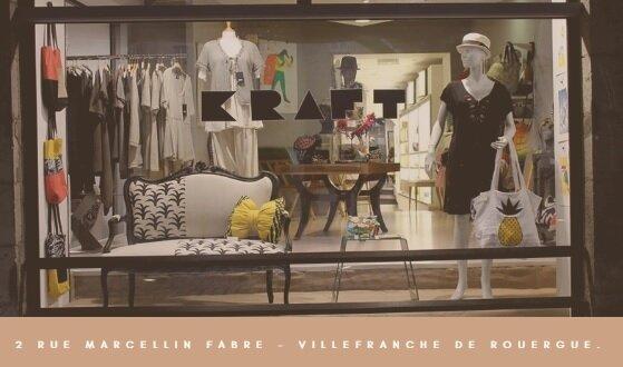 Boutique de créateurs K R A F T 2 rue Marcellin Fabre 12200 Villefranche-de-Rouergue