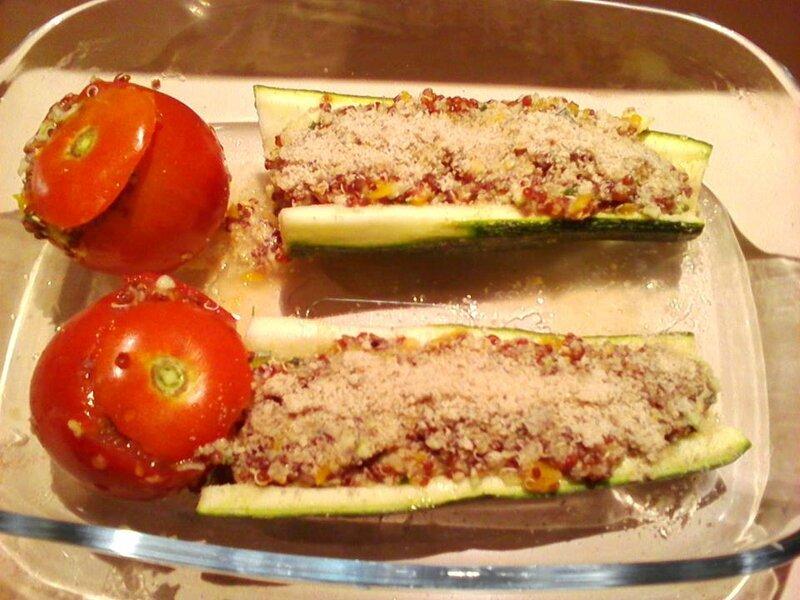 legumes farçis au quinoa rouge