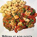 Aiguillettes de poulet tandoori aux poivrons
