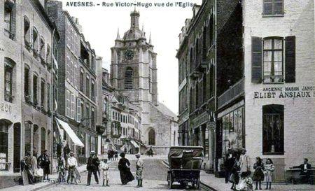 AVESNES-Rue V-Hugo Vue De L'Église