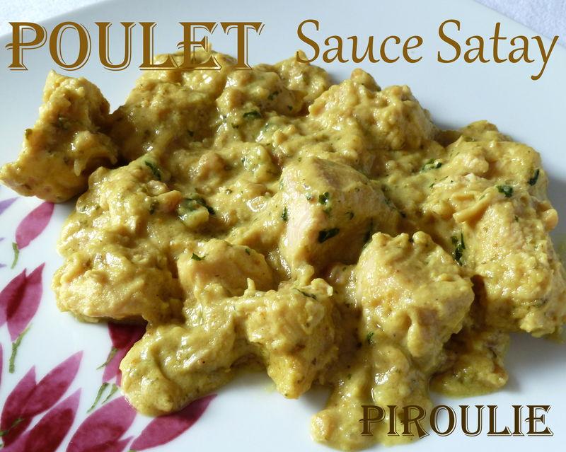 Poulet Au Beurre De Cacahuete Et Au Lait De Coco Sauce Satay