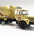 Berliet pmh 12 6x4 malaxeur. hachette. collection berliet. #5. 1/43.
