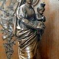 FecaTrin29Statue en bois de la Vierge à l'Enfant Chapelle de la Vierge Époque contemporaine