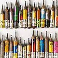 Sculptures sur mines de crayons par dalton ghetti.