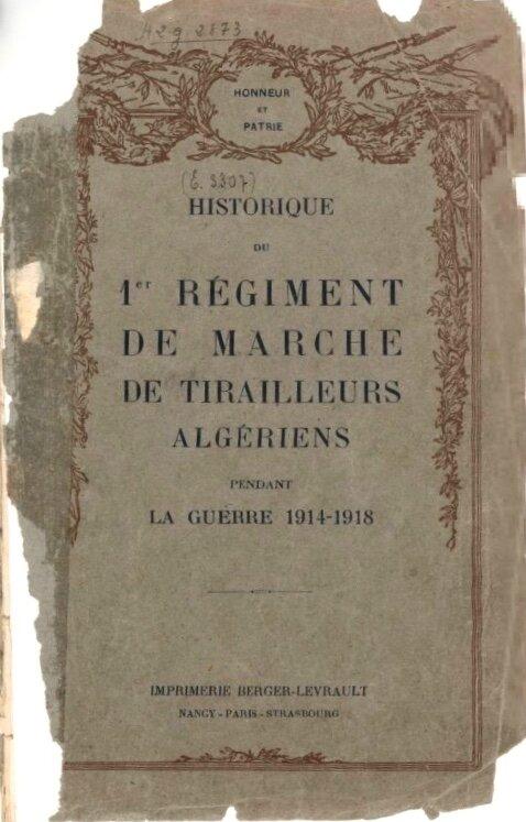 Historique 1er rgt Marche Tirailleurs (1)