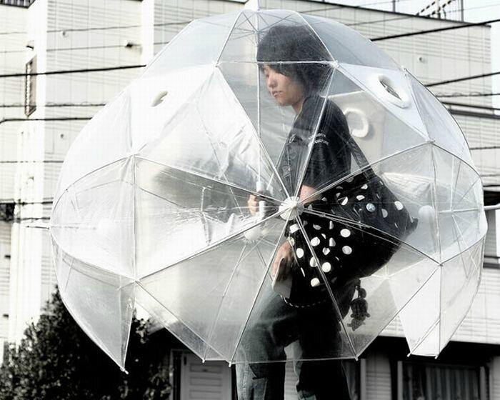 parapluie très englobant