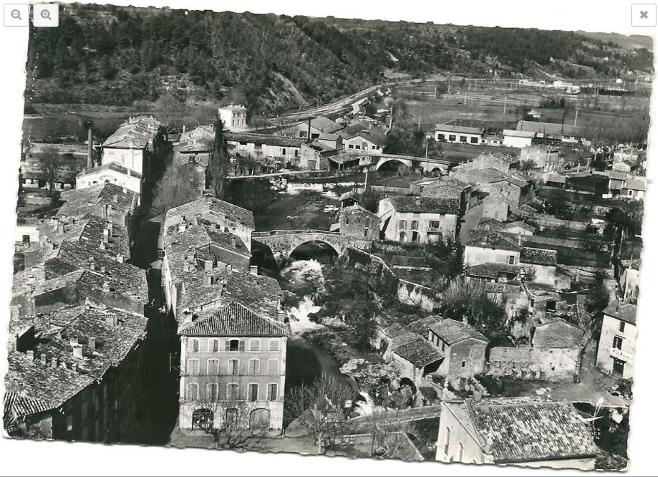 Trans en Provence-Vue aérienne-Noir et blanc