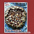 Tarte rustique aux pommes & pralin