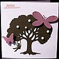 41. rose, chocolat et violine - arbre et balançoire