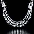 An impressive diamond necklace
