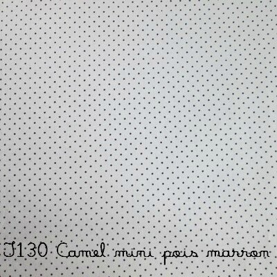 T130 camel mini pois marron