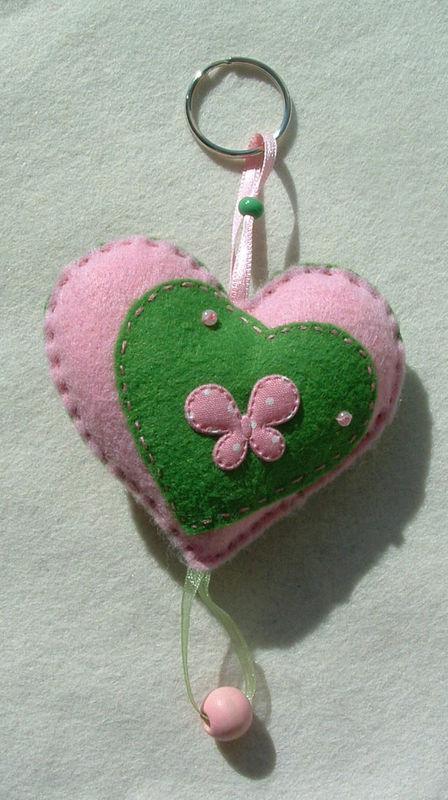 Petit coeur rose & vert (verso)
