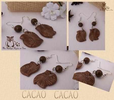 Boucles CACAO forme originale