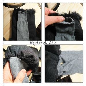 tuto fourrure amovible botte, diy free pattern