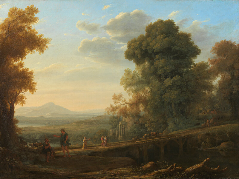 Claude Lorrain, Landscape with Rebekah Taking Leave of her Father