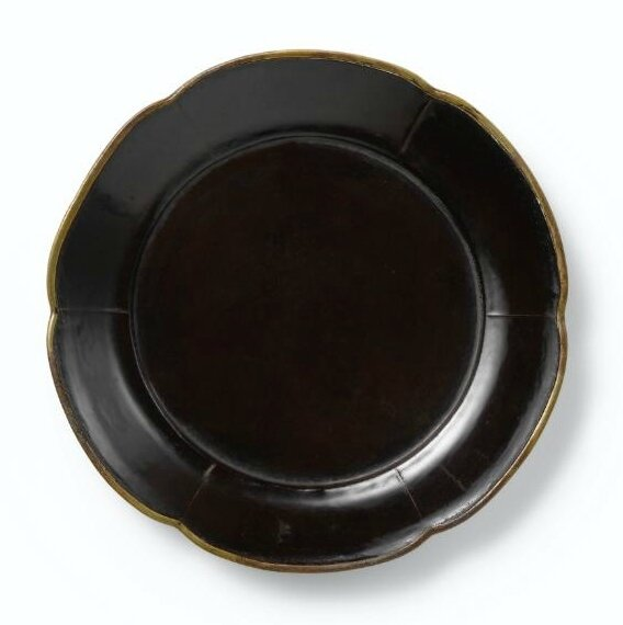 Black lacquer foliate dish, Song dynasty, formerly collection of Sakamoto Gorō, Sotheby's Hong Kong, 8th October 2013, lot 141