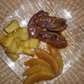 Magret de canard caramelise a la mangue